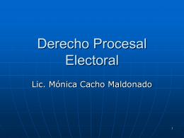 Derecho Procesal Electoral