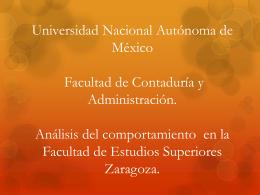 Facultad de Derecho.