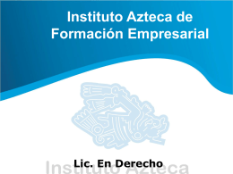 Licenciatura en Derecho