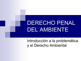 DERECHO PENAL DEL AMBIENTE