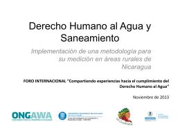 Derecho Humano al Agua y Saneamiento