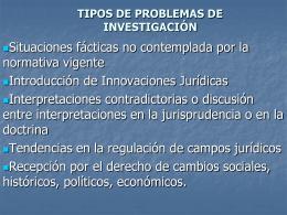 TIPOS DE SITUACIONES PROBLEMATICAS