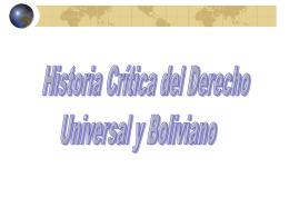 CIENCIA DE LA HISTORIA DEL DERECHO