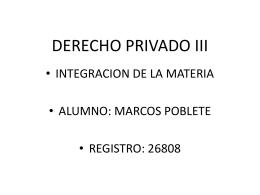 INTEGRACION DE DERECHO PRIVADO III