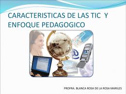 ENFOQUE PEDAGOGICO - las-tic