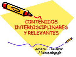 CONTENIDOS INTERDISCIPLINARES Y RELEVANTES