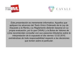 Proyecto IR 2010 - Bolsa de Valores de Lima