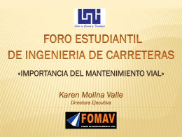 I FORO ESTUDIANTIL DE INGENIERIA CIVIL