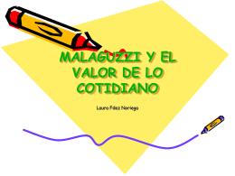 MALAGUZZI Y EL VALOR DE LO COTIDIANO