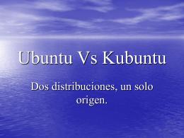 Ubuntu Vs Kubuntu