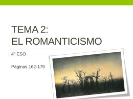 TEMA 3: EL ROMANTICISMO