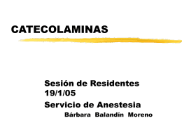 CATECOLAMINAS - Area