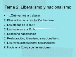 Tema 2. Liberalismo y nacionalismo