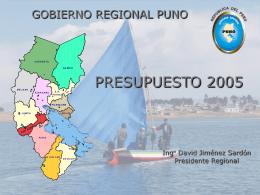 Gobierno Regional Puno - Portal Institucional e