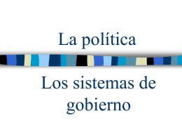 Los sistemas de gobierno