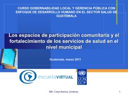 Gobierno municipal, ciudadania y salud