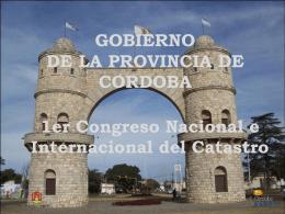 GOBIERNO DE LA PROVINCIA DE CORDOBA SERVICIOS …