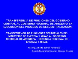 TRANSFERENCIA DE FUNCIONES DEL GOBIERNO …