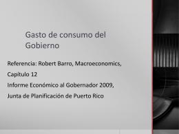 Gasto de consumo del Gobierno