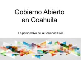 Gobierno Abierto en Coahuila