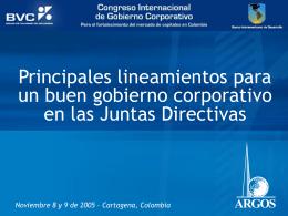 ARGOS - Principales lineamientos para un buen gobierno
