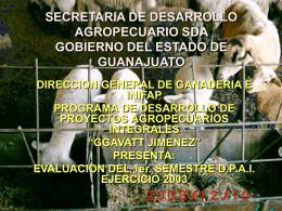 SECRETARIA DE DESARROLLO AGROPECUARIO SDA …