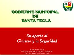Gobierno Municipal de Santa Tecla: su aporte al Civismo y