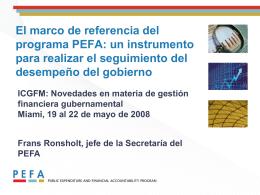 El marco de referencia del programa PEFA: un instrumento