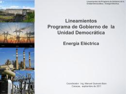 Lineamientos Programa de Gobierno de la Unidad …