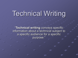 Technical Writing - Villanova University