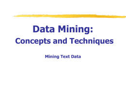 Data Mining: Concepts and Techniques — Chapter 10. …