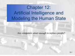 Chapter 12: Artificial Intelligence and Modeling the Human