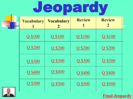 Jeopardy - Wikispaces