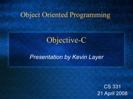 Objective-C - UAF Department of Computer Science