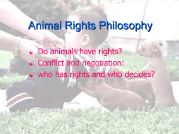 AR Philosophy - Animal Liberation Front