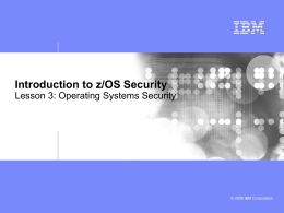 Lesson 3 - Operating Systems Security