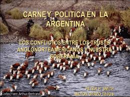 CARNE Y POLITICA EN ARGENTINA
