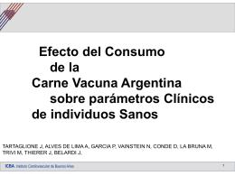 Efecto del consumo de la Carne Vacuna Argentina sobre