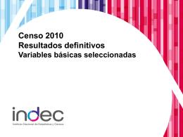 Diapositiva 1 - Censo 2010 Argentina