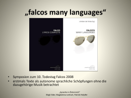 falcos many languages""
