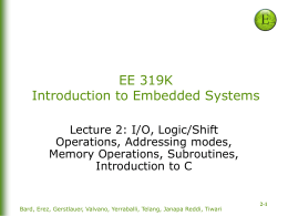 Lecture 2: Execution and I/O