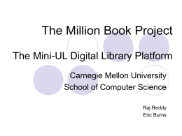 The Million Book Project The Mini
