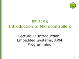 Chapter 1: Introduction, Embedded Systems