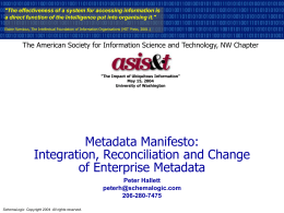 Metadata Manifesto