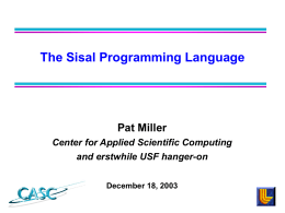 Center for Applied Scientific Computing Month DD, 1997