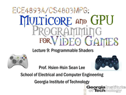 ECE 4893 Multicore and GPU Programming for Video …