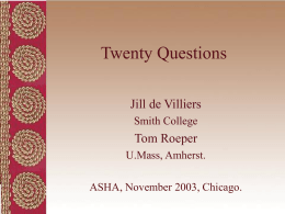 Twenty Questions - University of Massachusetts Amherst