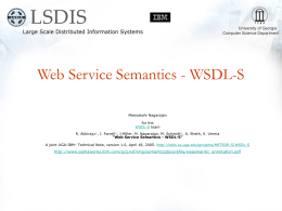 Web Service Semantics - WSDL-S