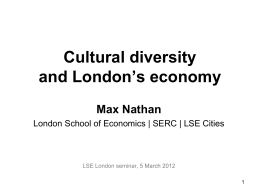 Cultural diversity and innovation in London: Evidence from
