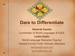 Daring to Differentiate